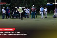 Photo of LATIHAN BERSAMA GOLF BARENG BUPATI HENDY SISWANTO DI GLANTANGAN